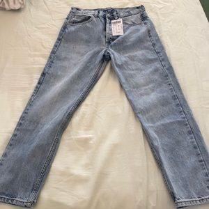 Brandy Melville mom jeans, never worn, with tag.